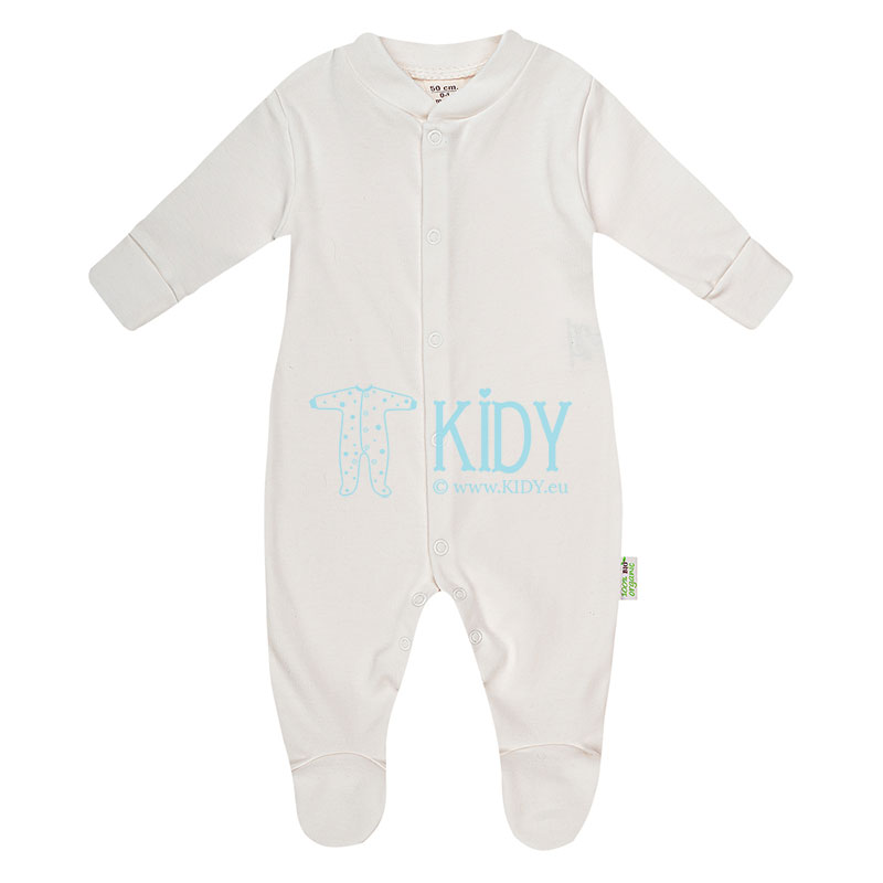 Ecru ORGANIC footed sleepsuit
