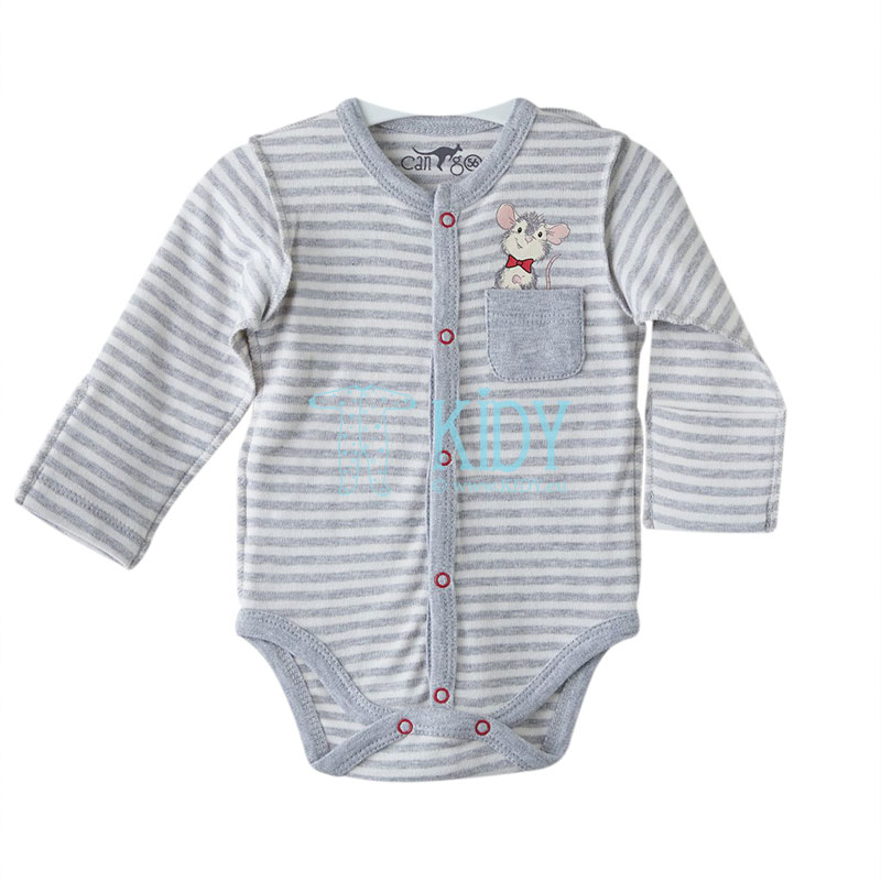 Grey MOUSE shirt bodysuit