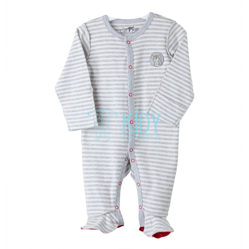 Grey MOUSE sleepsuit
