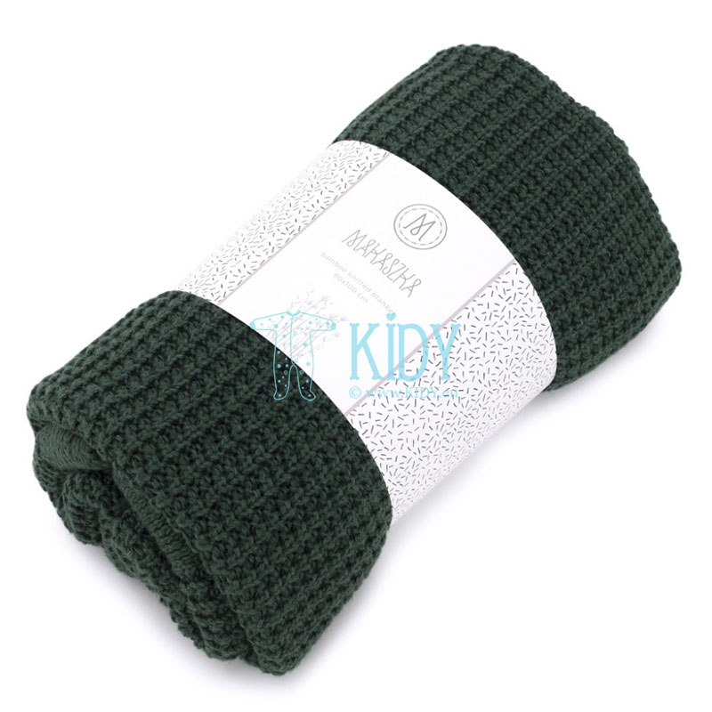Green Bambus knitted plaid