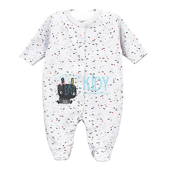 Grey MERRY sleepsuit