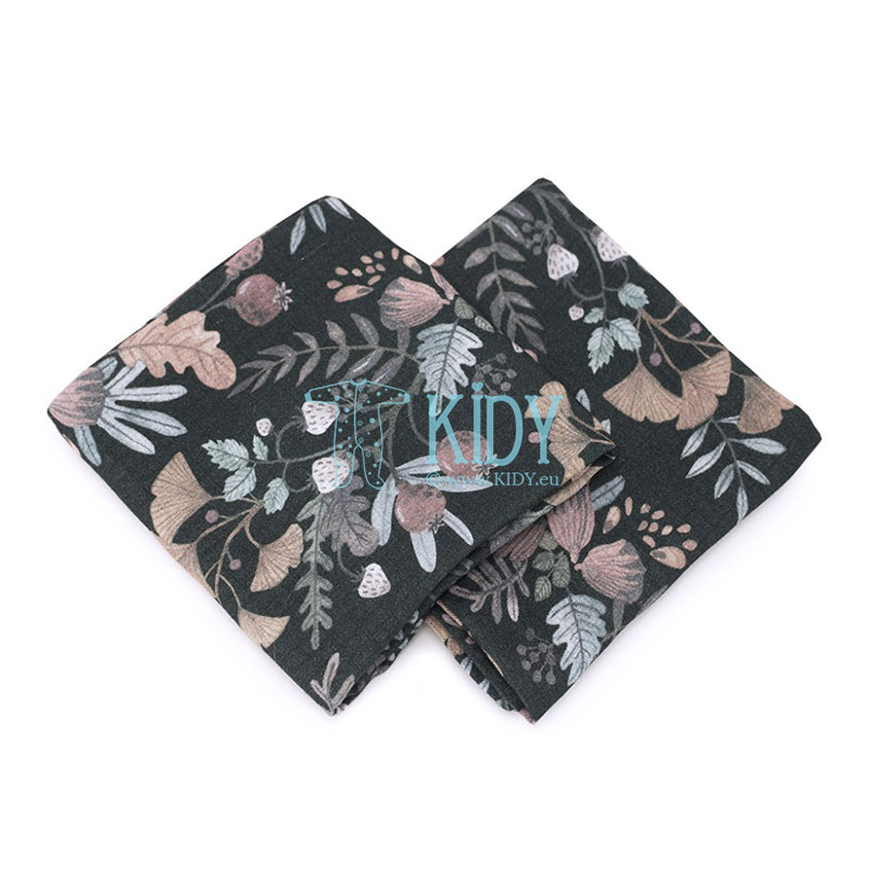 2pcs Secret Garden bamboo muslin wrap set