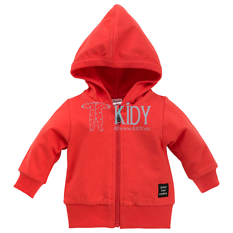 Red OCEAN DREAM zipped hoodie