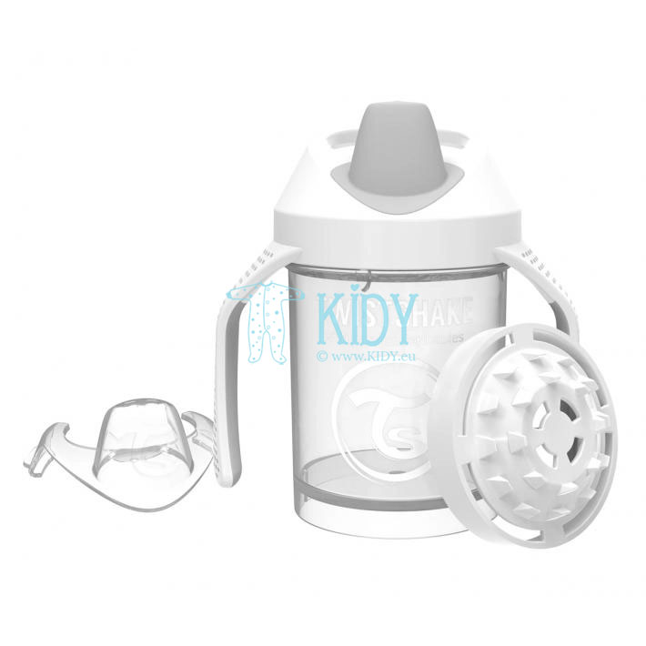 Balta gertuvė SIPPY CUPS MINI WHITE (Twistshake)