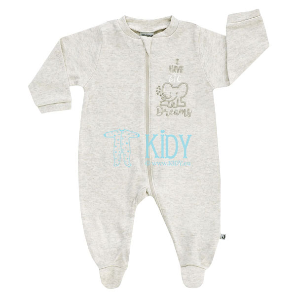 Beige I HAVE BIG DREAMS  sleepsuit