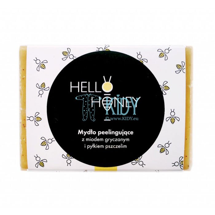 Natural honey peeling soap with bee pollen and honey