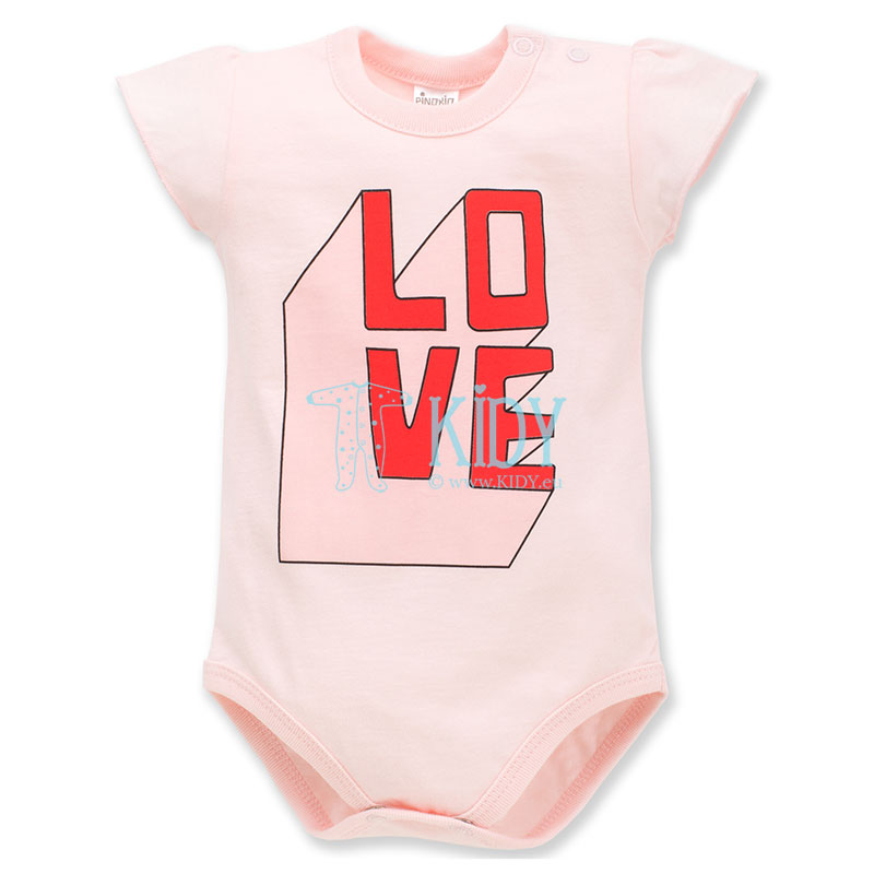 Pink LOVE & LOVE shortsleeved bodysuit