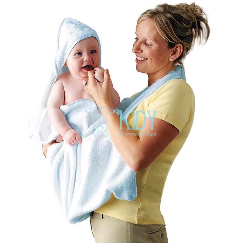 Голубое полотенце SPLASH & WRAP с уголком