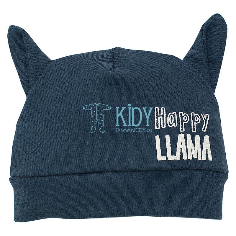 Mėlyna kepurytė HAPPY LLAMA