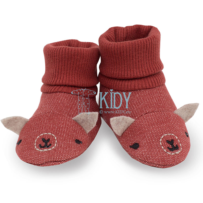 Red HAPPY LLAMA booties