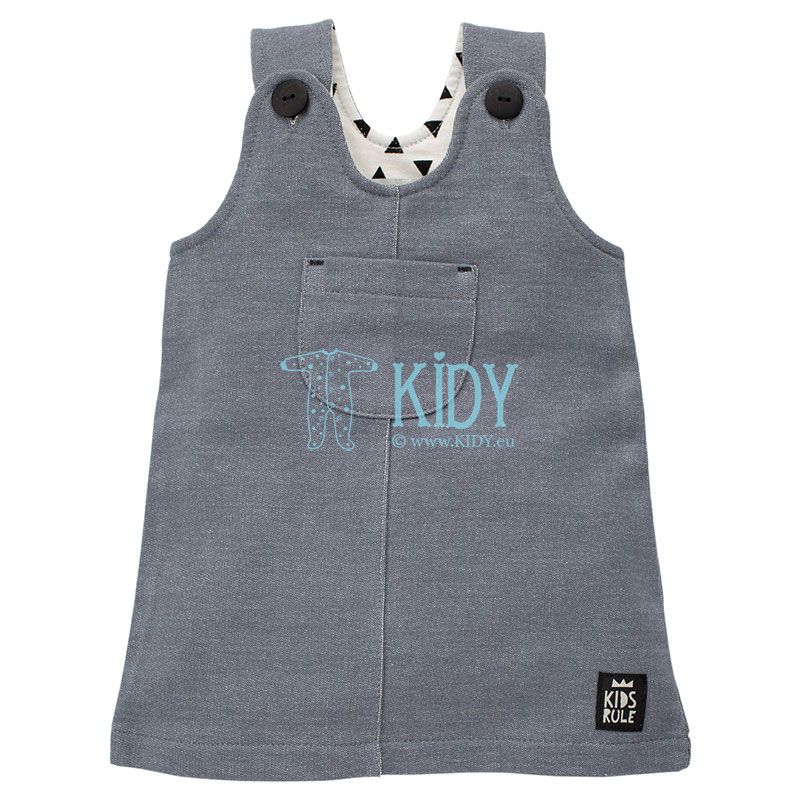 Grey HAPPY DAY sleeveless dress