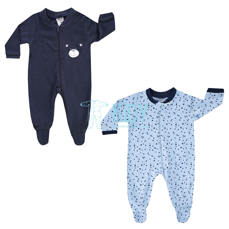2 pcs BEAR sleepsuit pack