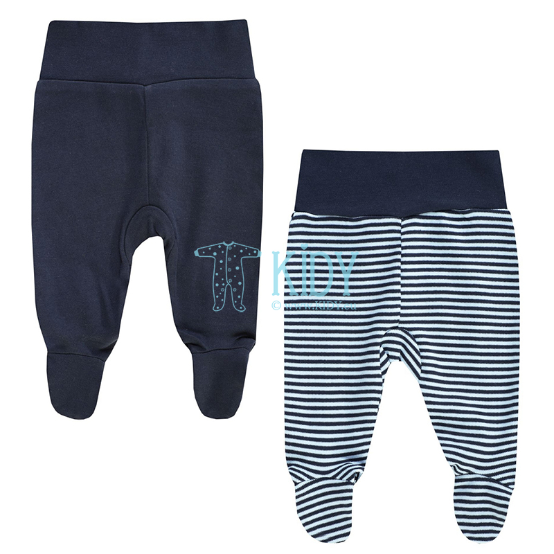 2pcs BEAR footed pants set