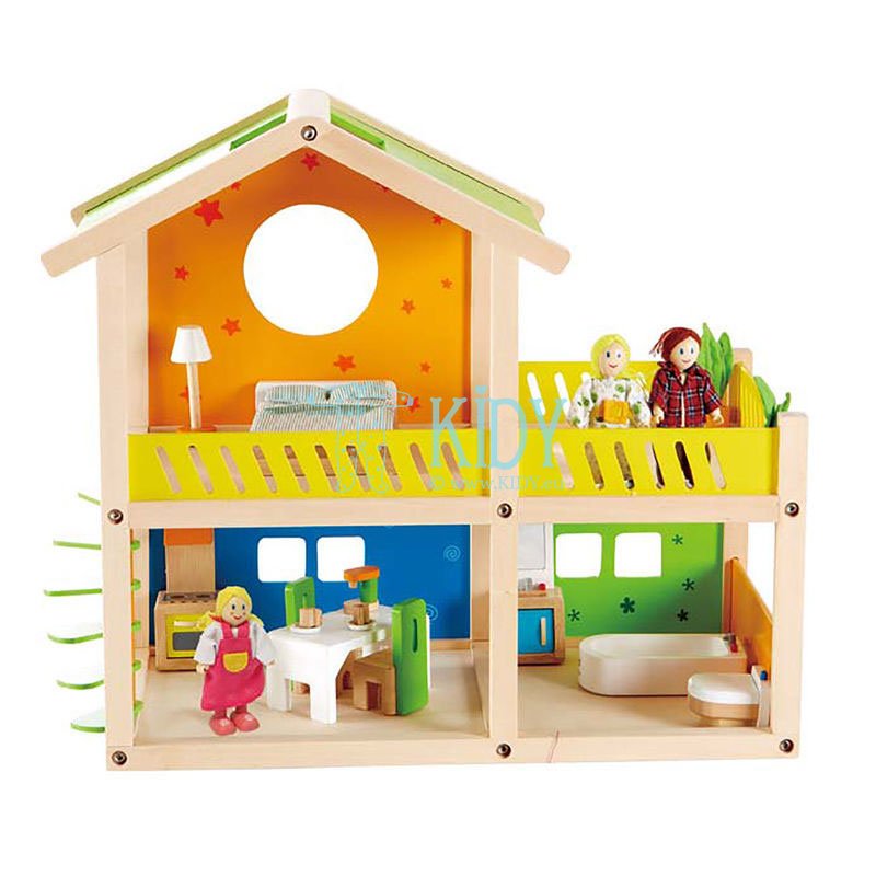 Doll house HAPPY VILLA with furniture