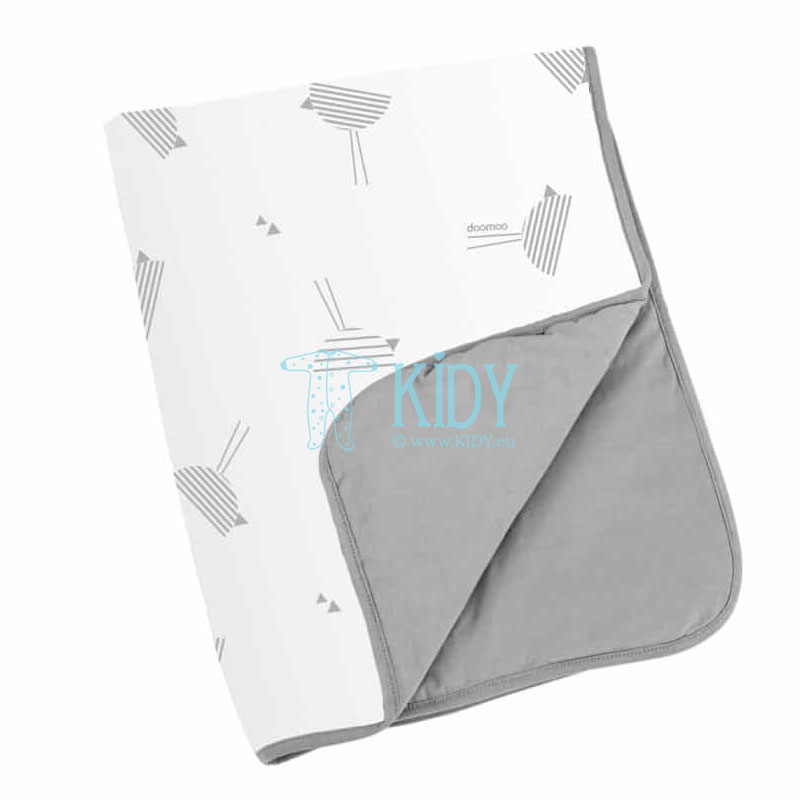 Soft DREAM COTTON BIRDS GREY blanket