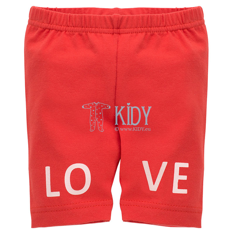 Red LOVE & LOVE shorts