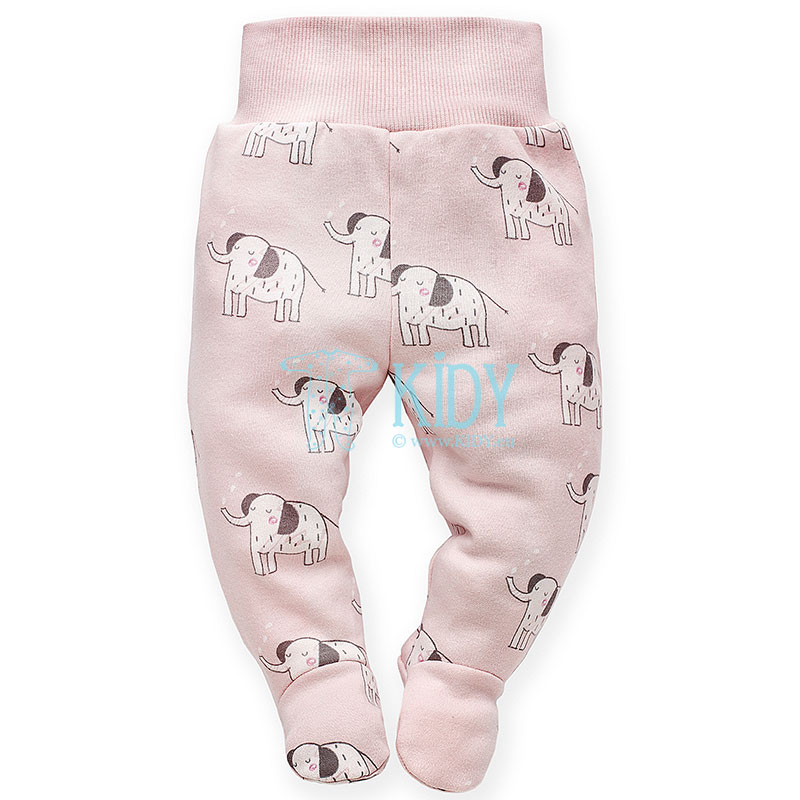 Pink WILD ANIMALS footed pants