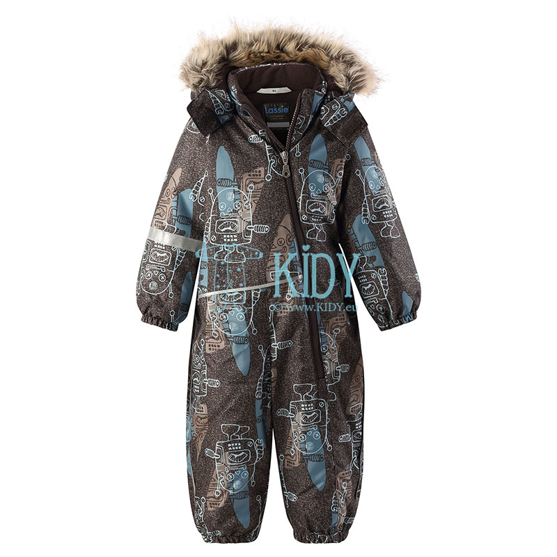 Black ZAIGA Dark Brown snowsuit