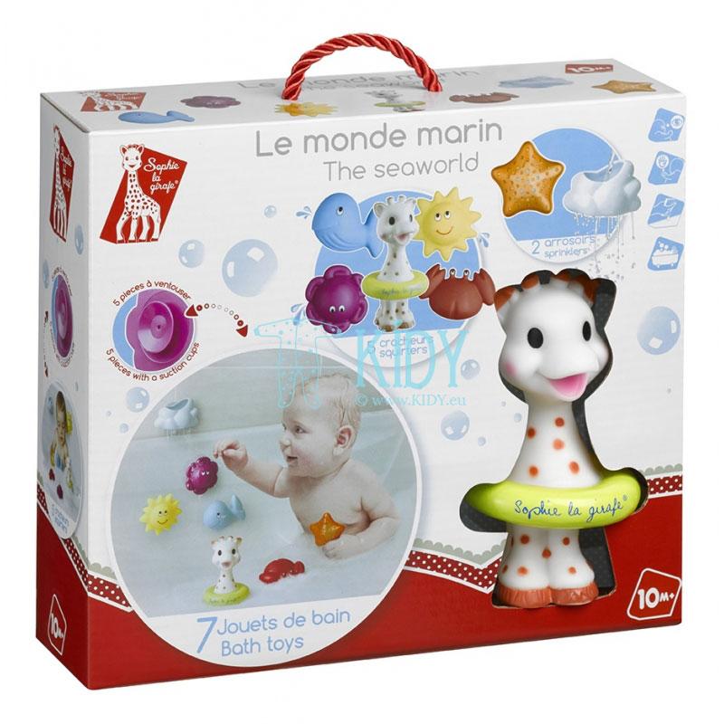 Игрушки для ванной Sophie la Girafe Sea World, 7 шт