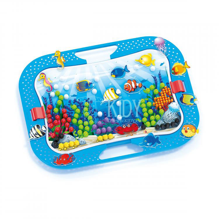 OCEAN FUN FISH & PEGS mosaic set