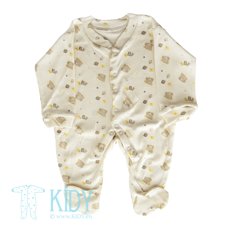 Cream sleepsuit LOVE ME (Nursery Time)