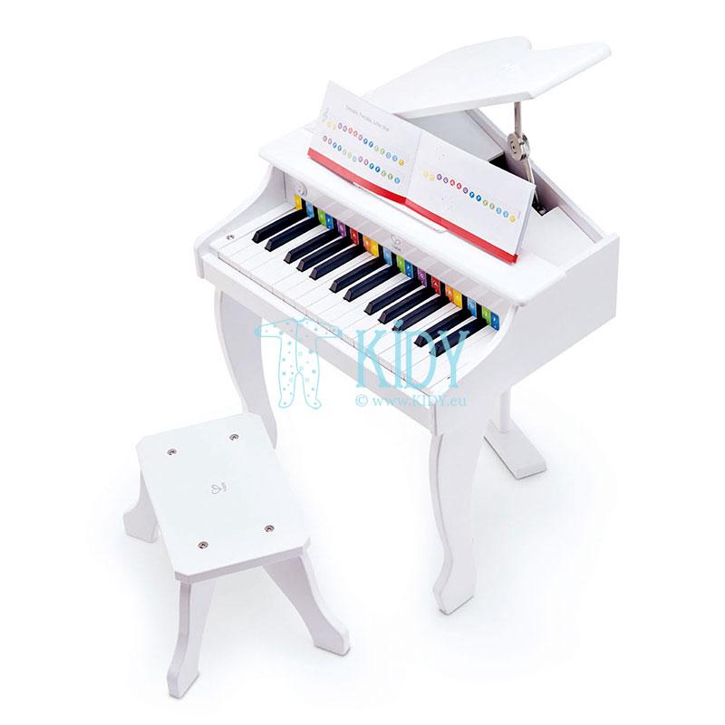 Baltas žaislinis pianinas Deluxe Grand