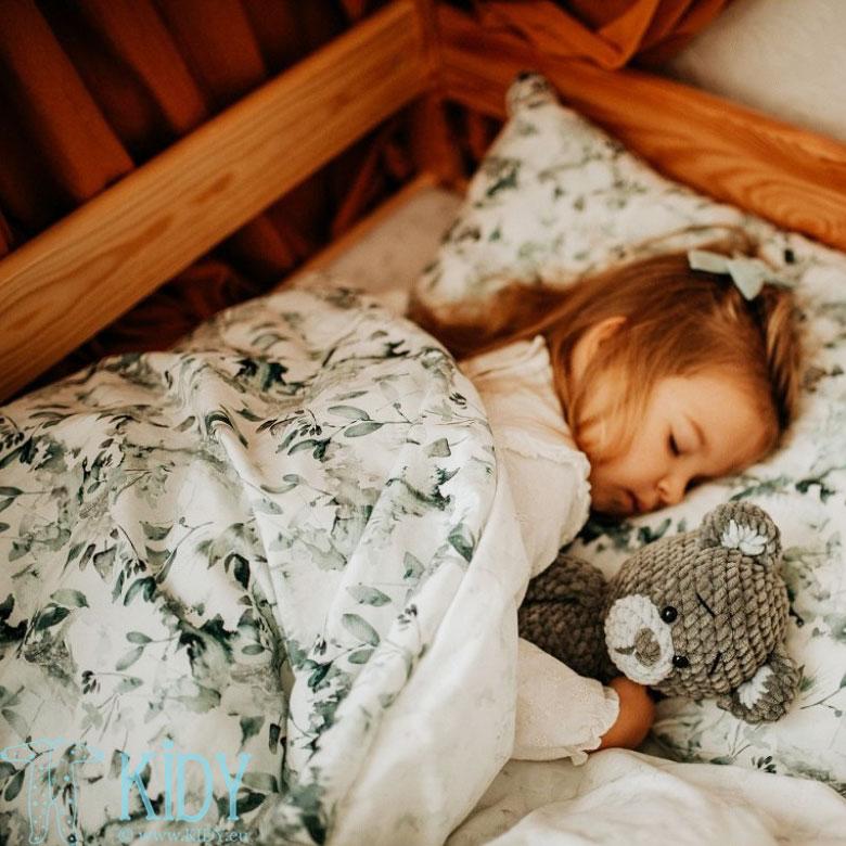Patalynės komplektas Sage Green: antklodė + pagalvė (MAKASZKA) 6