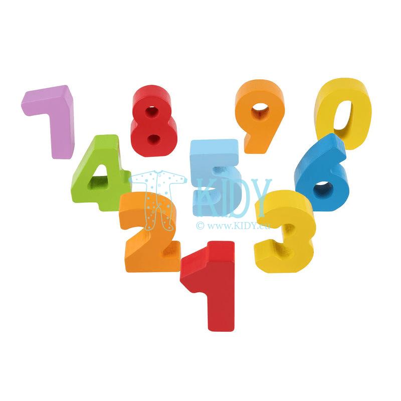 Medinės figūrėlės spalvotos, skaičiai NUMBERS AND COLORS (Hape) 6