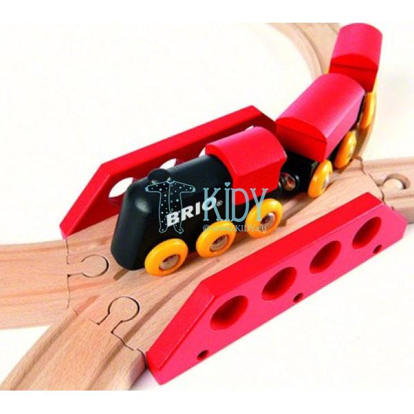 Traukinių rinkinys medinis, 8 dalys (Brio) 6