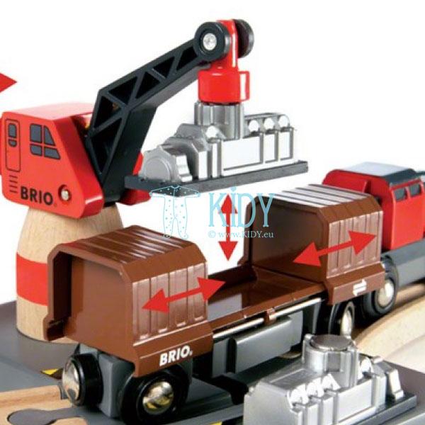 Rinkinys su traukinio bėgiais Cargo harbour (Brio) 6