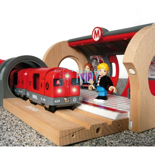 Rinkinys su traukinio bėgiais Metro railway (Brio) 6