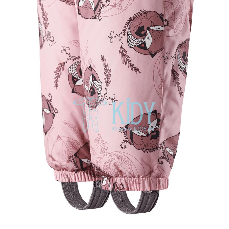 Rožinis žieminis kombinezonas-transformeris FOX su pirštinėlėmis (Lassie by Reima) 6