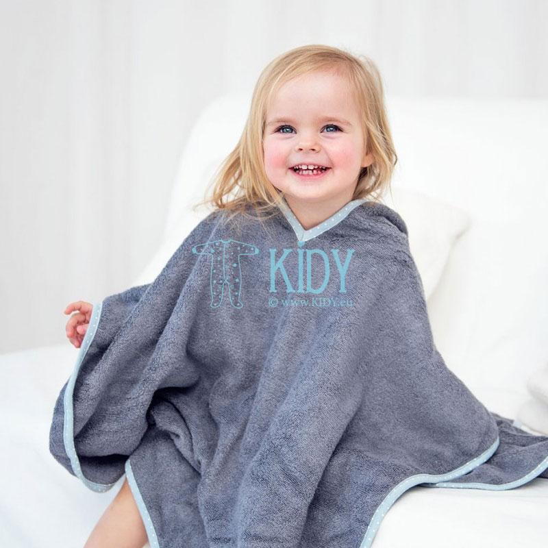 Grey bamboo supeRRO poncho towel (Lullalove) 6