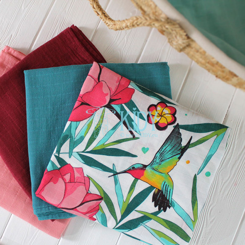 Muslino bambukinis vystyklas FLOWERY GRACE (Tommy Lise) 6