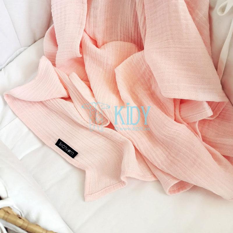 Rožinis bambukinis muslino vystyklas ROZOWY KWARC (Lullalove) 6
