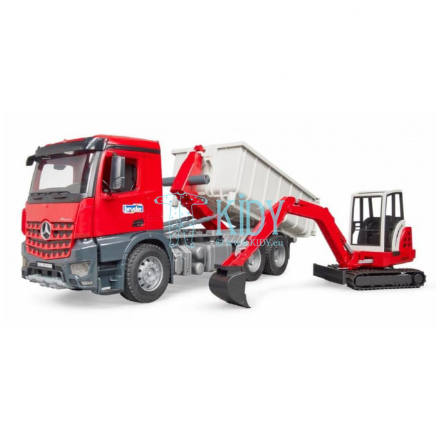 MB Arocs Roll-Off Container & Schaeff mini excavat