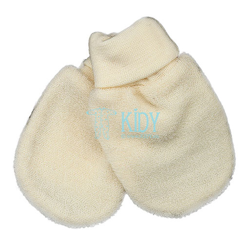 Creamy LOLLY LAMB wool mittens