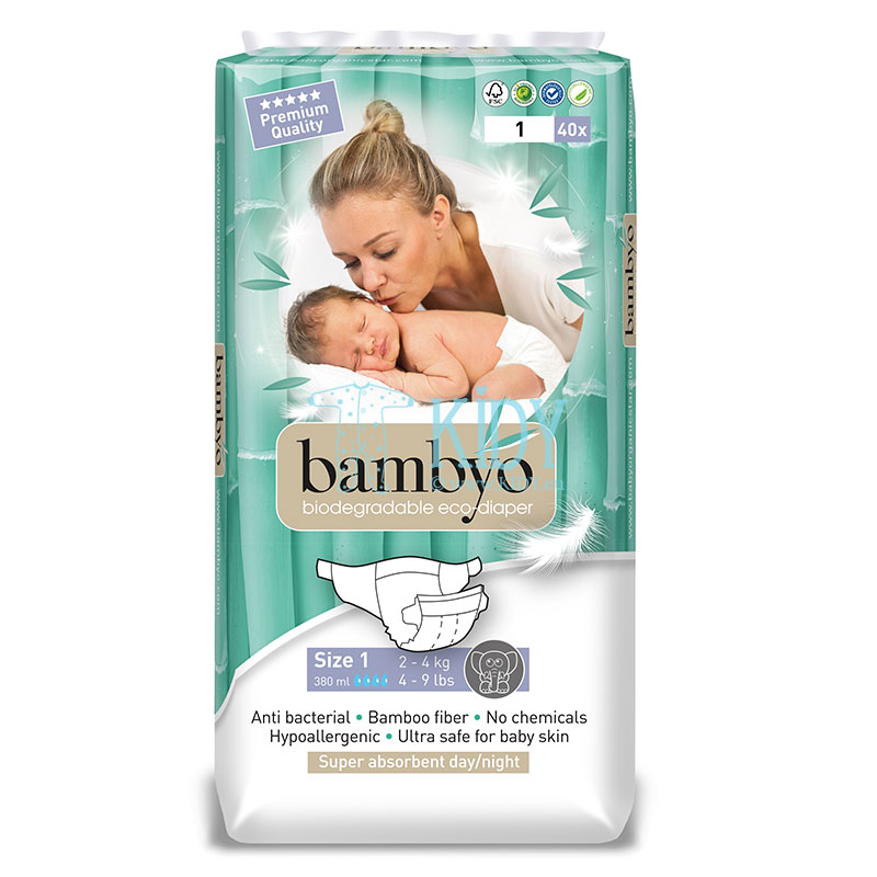 Bamboo BAMBYO №1 eco diapers for newborns
