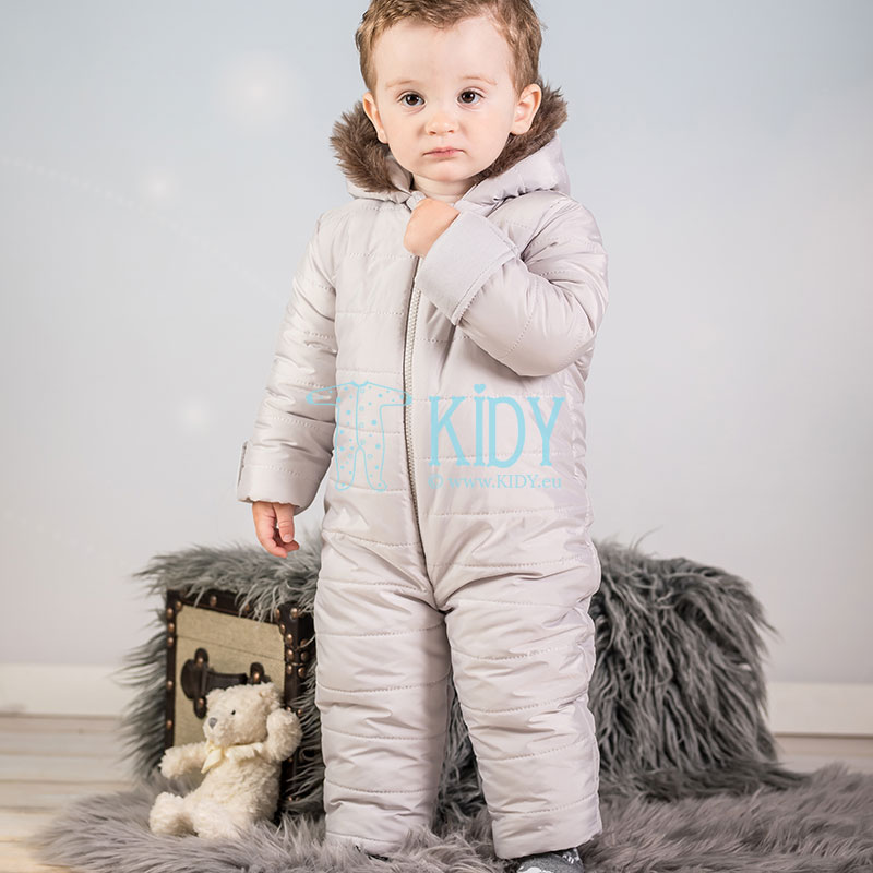 Grey ARTEX footed footless snowsuit