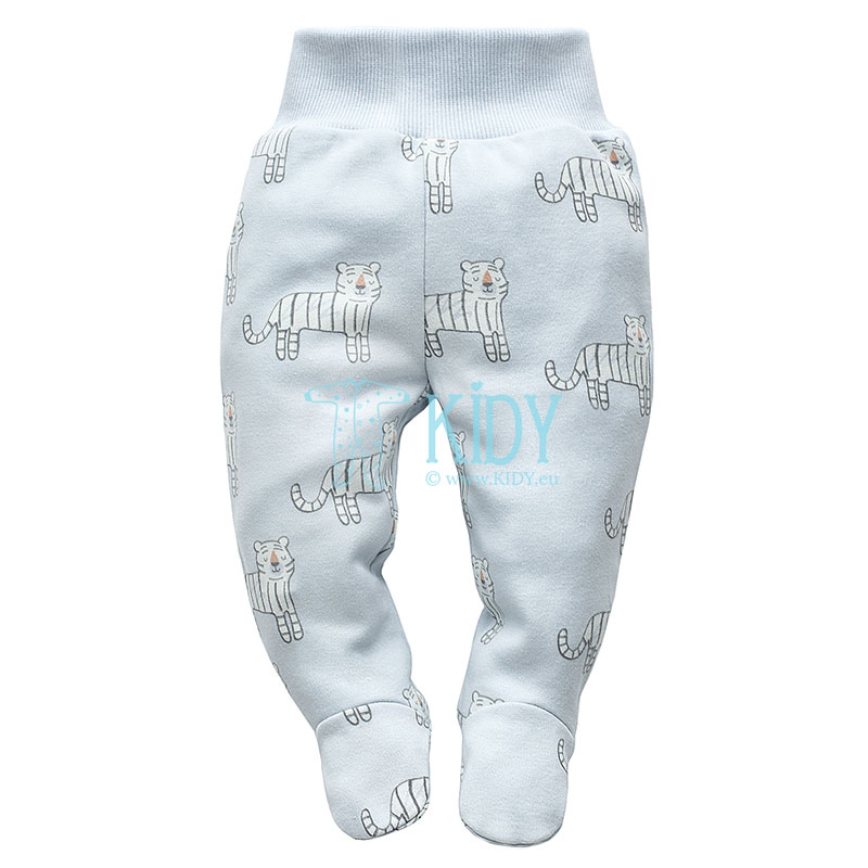 Blue WILD ANIMALS footed pants