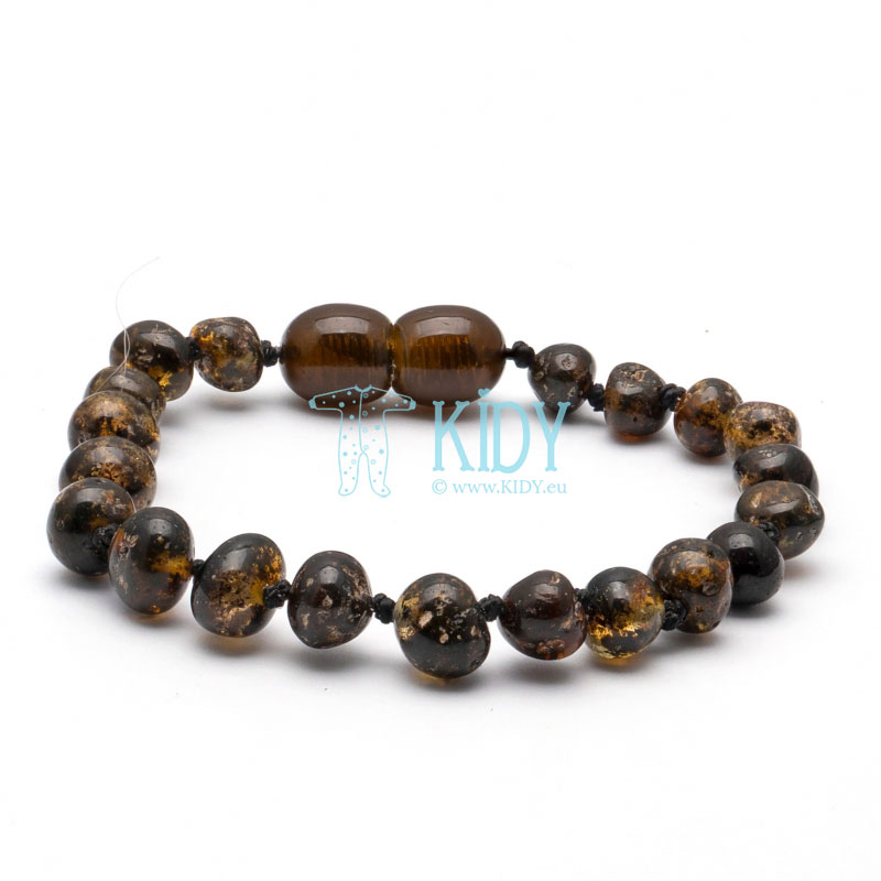 Amber GREEN teething bracelet (Baltic Amber)