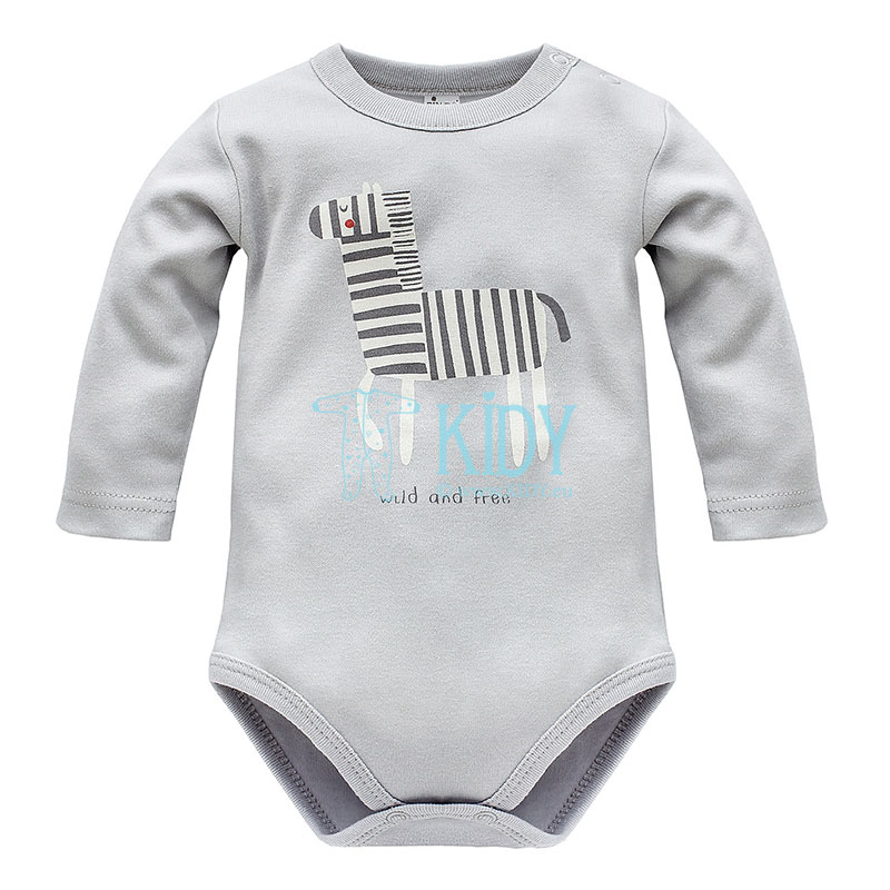 Grey WILD ANIMALS bodysuit