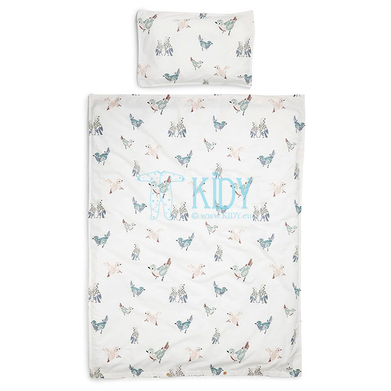 2pcs FEATHERED FRIENDS bedding set