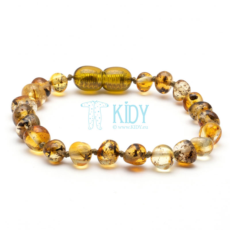 Amber GREEN teething bracelet