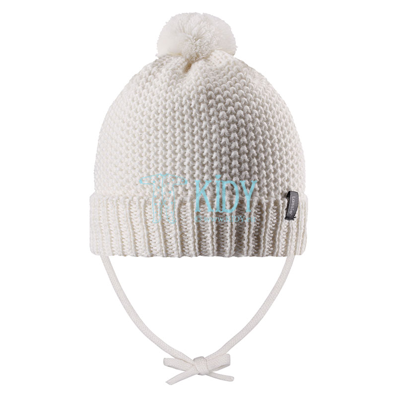 White NOMI wool hat