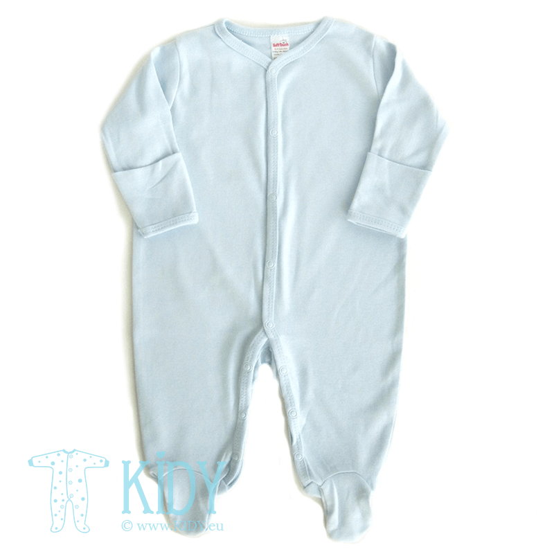 Blue sleepsuit PLAIN with mitts
