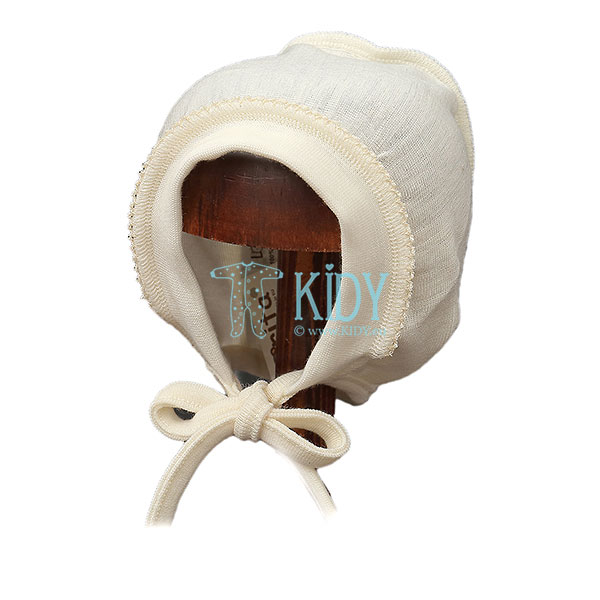 Кремовая шапочка MERINO из шерсти мериноса