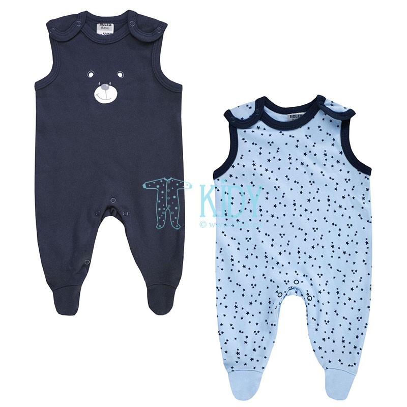 2pcs BEAR dungaree set