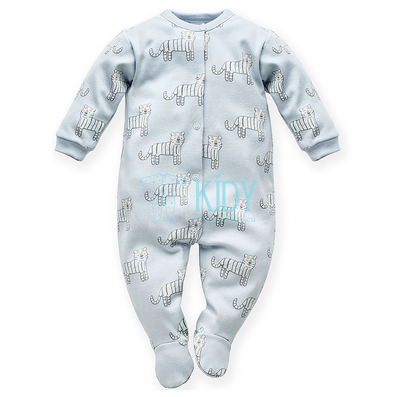 Blue WILD ANIMALS sleepsuit