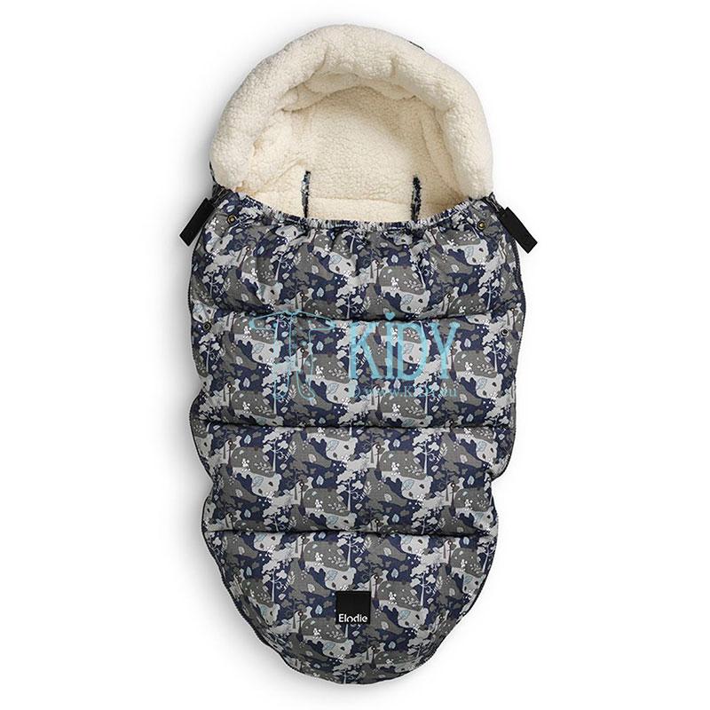 Pilkas žieminis vokelis į vezimelį REBEL POODLE (Elodie Details)